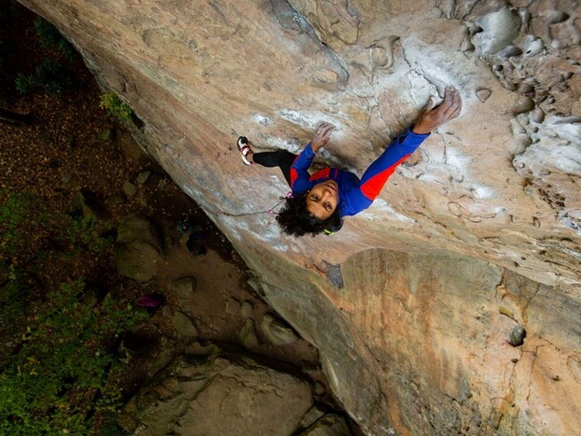 girl rock climbing banner