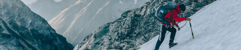 assorted outdoor apparel for mountain climbing